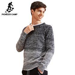 Pioneer Camp Baru Pria Sweater Merek Pakaian Fashion Rajutan Sweater Pria Kualitas 100% Katun Musim Gugur Musim Dingin AMS702429