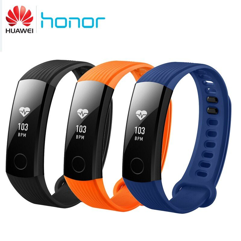 Original Huawei Honor Band 3 Smart Wristband Real-time Smartband Heart Rate Monitoring 5ATM Waterproof Swimming Band for Android