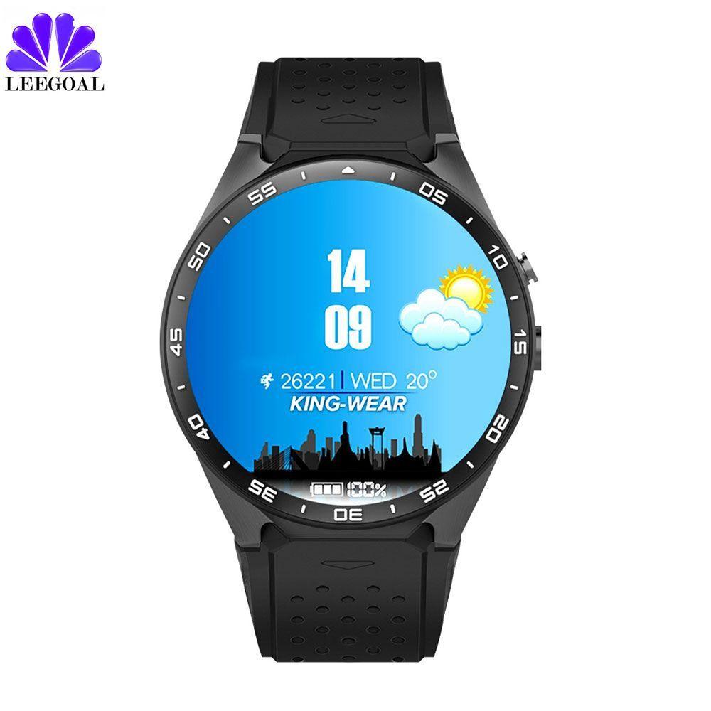 Оригинальный Kingwear kw88 Смарт-часы Android 5.1 SmartWatch kw88 MTK6580 Quad Core 3 г Bluetooth GPS сердечного ритма Мониторы телефон