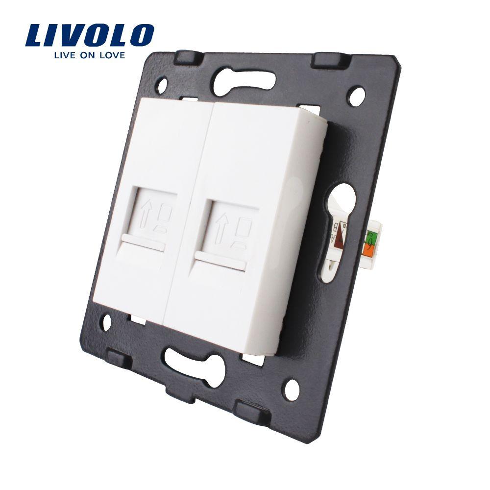 Fabrication Livolo, la Base de prise/prise/prise pour produit bricolage, prise informatique 2 Gangs VL-C7-2C-11