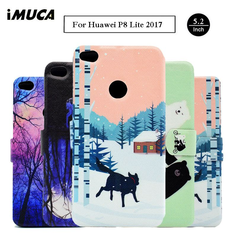For Huawei Honor 8 Lite Case Leather Wallet Stand Flip Phone Cases For Huawei P8 Lite 2017 Case Huawei Honor 8 Lite Cover Case
