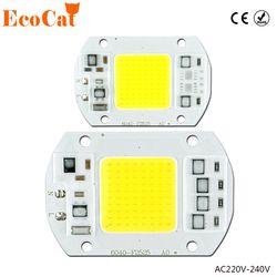 COB LED Puce 50 w 220 v 30 w 20 w 10 w 3 w Smart IC Aucun Conducteur Du Besoin LED Ampoule Lampe Pour Le BRICOLAGE Projecteur Projecteur