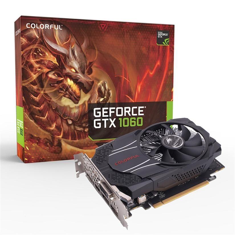 Pre-verkauf!!! bunte GTX1060 Mini OC 3G GDDR5 192Bit PCI Express Spiel Video Grafikkarte DE15 Drop Shipping 16,9