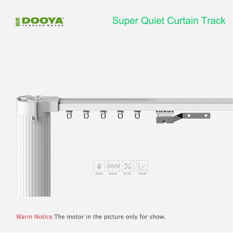 Voie de rideau électrique personnalisée de haute qualité d'origine Dooya pour la domotique intelligente de moteur de rideau électrique à télécommande