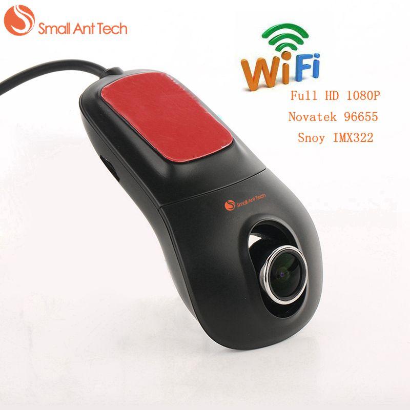 Smallanttech видеорегистратор Автомобильный регистратор Регистраторы видео Full HD 1080 P Новатэк 96655 Снуа imx322 Wi-Fi Ночное видение 30fps тире Камера Cam