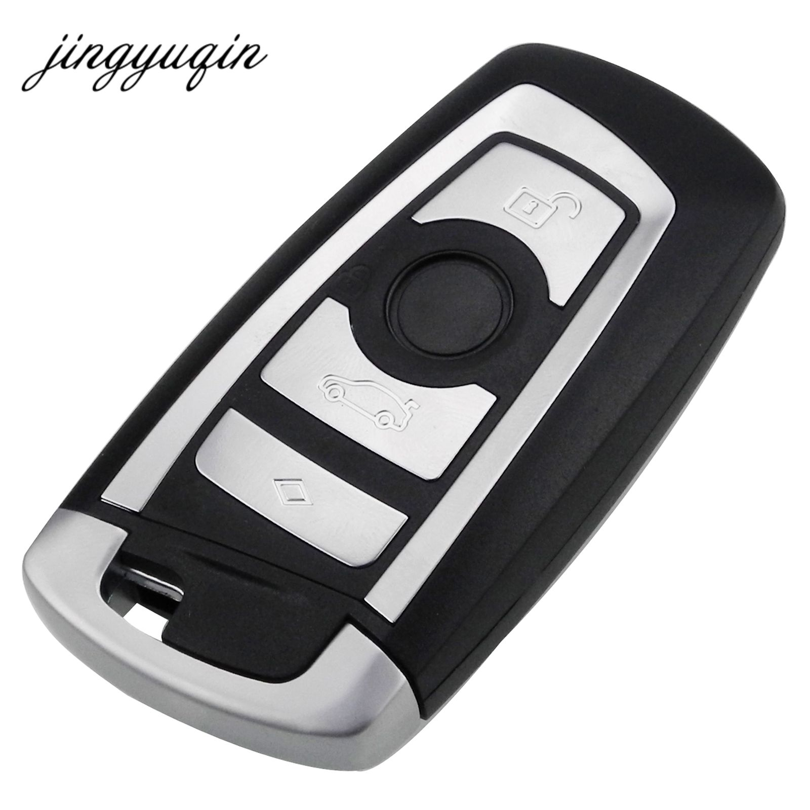 jinyuqin 10pcs/lot 4 Buttons Smart Remote Keyless Shell for BMW F CAS4 5 Series 7 Series Smart Key Fob Case