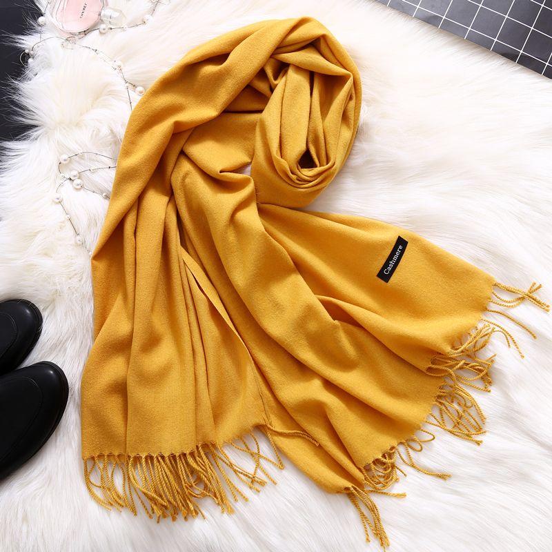 Mode 2018 nouveau printemps hiver écharpes pour les femmes châles et enveloppements dame pashmina pur longue cachemire foulard hijabs étoles