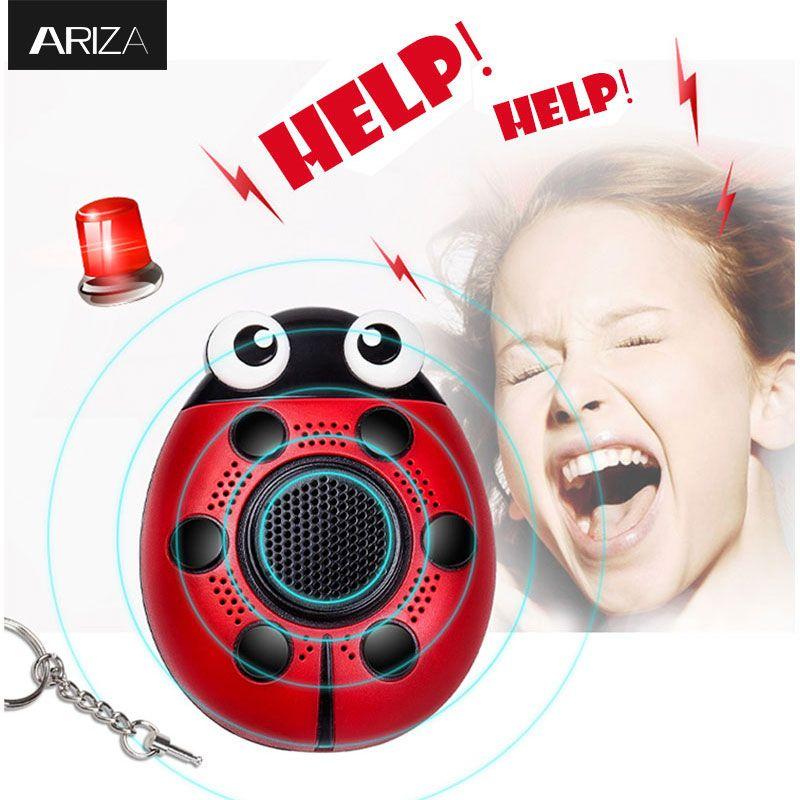 Ариза 130DB самообороны личной безопасности Сигнал тревоги брелок электронная безопасность паника брелок сигнализации анти-изнасилованиями...