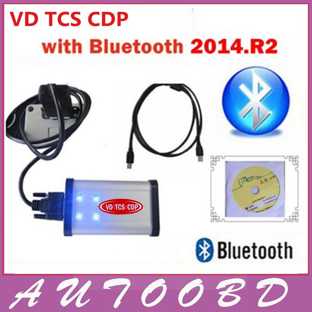 2014.2 R2 CD+free activate with LED TCS CDP PRO+Bluetooth for CARs+TRUCKs with flight and speak function auto Diagnostic Tool