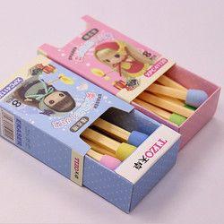8 unids/pack kawaii Cerillas Gomas de borrar precioso color Gomas de borrar para niños estudiantes niños regalo creativo del artículo envío libre