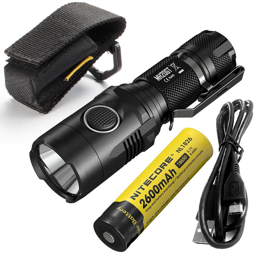 ~ VERKAUF ~ NITECORE MH20GT BOXSET 1000 lumen LED Lampe Taschenlampe Wasserdichte Taschenlampe USB Rechargeable18650 Li-Ion Akku Kostenloser Versand