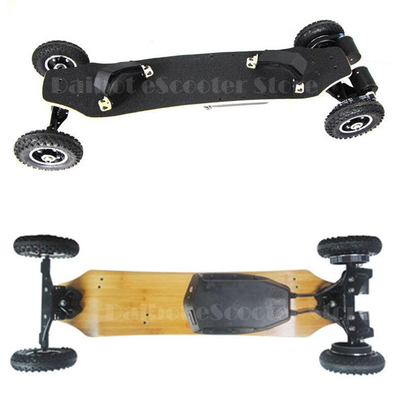 4 Vier Rädern Elektrisches Skateboard Dual Motor 1650 Watt * 2 Max 11000 mAh Elektro-scooter Longboard Hoverboard funkschlüssel pneumatische