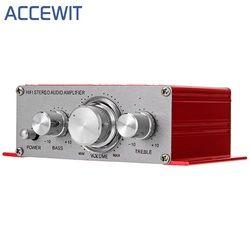 Accewit HY-2001 Hi-Fi Мини Усилители звука для мотоцикла Авто Главная Мощность усилитель стерео звук режим USB/MP3/FM/DVD/SD