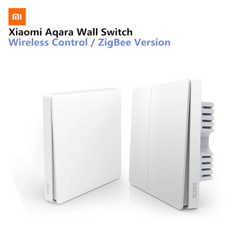 Xiaomi Aqara Interrupteur Mural Intelligent Lumière Commutateurs Contrôle ZigBee Version Sans Fil Connexion APP Contrôle À Distance Maison Intelligente Kit