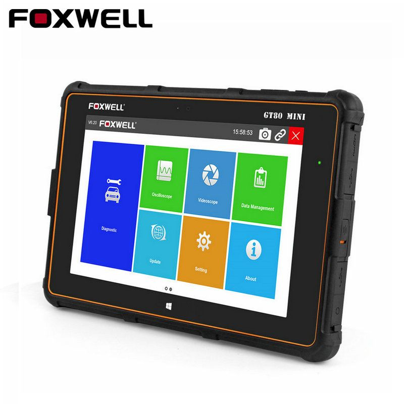 Foxwell GT80 MINI Diagnosewerkzeug Professionelle Full Systeme Auto OBD Injektor-kodierung DPF Airbag SRS ABS TPMS Reset OBD2 Scanner
