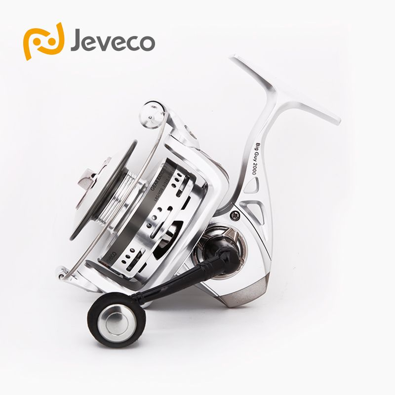 Jeveco BigGuy Spinning Fishing Reel, Long Casting Reel Fishing 5.5:1 6+1BB, Special Design Aluminum Spool For Long Casting