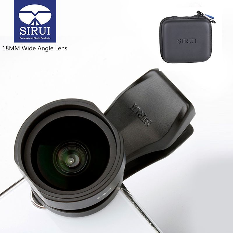 Sirui 18MM Wide Angle Phone Lens HD 4K Camera Phone Lenses for iPhone Xs Max X 8 7 Huawei P20 Pro Samsung S8 S9 Clip-On Lens