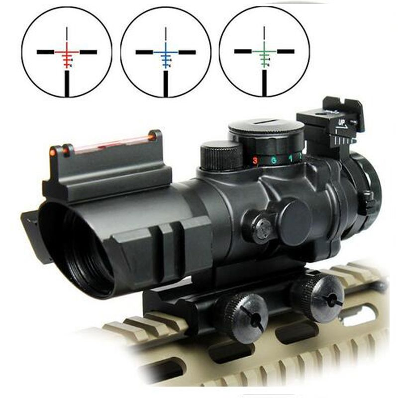 Airsoftsports Gun Riflescope 4x32 Rifle Scope Reticle Fiber Optic Sight Scope Rifle/airsoft Gun Hunting airsoftsports Gun