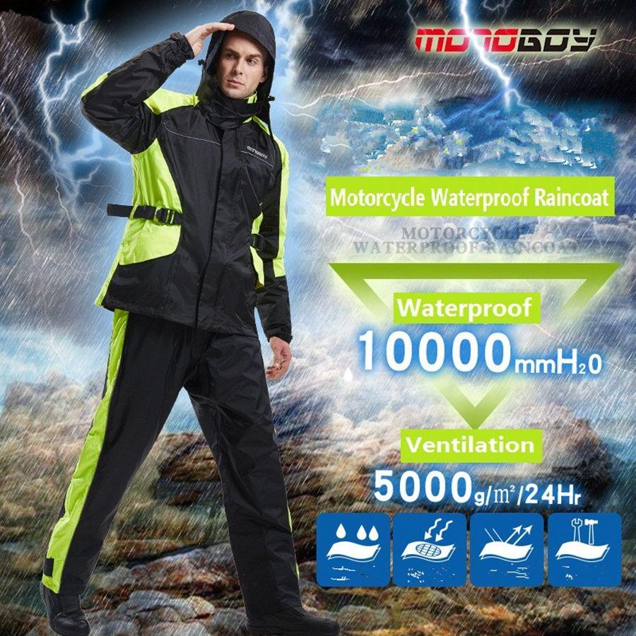 Free shipping 1set Motorcycle Motocross Racing Clothes Raincoat Rain Pants suit Raincoat Jacket And Raincoat Pants