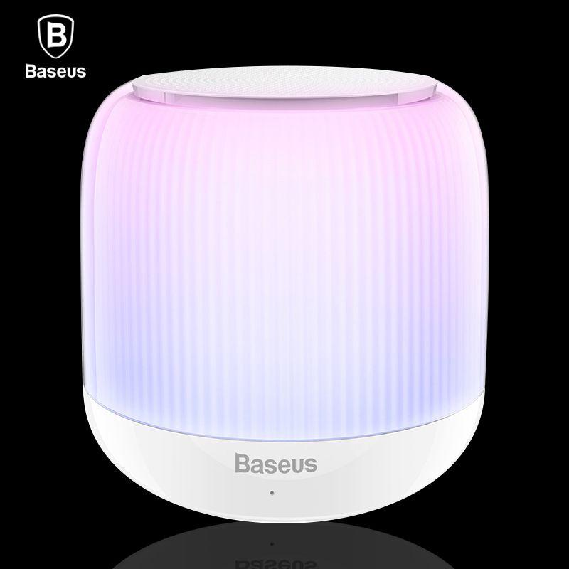 Baseus LED Bluetooth Speaker Portable Mini Wireless Speakers V4.2 Stereo Hands Free Subwoofer Loudspeaker With TF Card Audio USB
