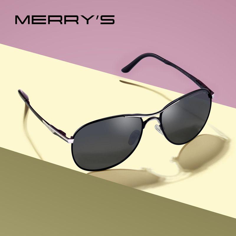 MERRYS DESIGN hommes classique lunettes de soleil pilote hommes HD lunettes de soleil polarisées pour conduite de luxe nuances Protection UV400 S8712