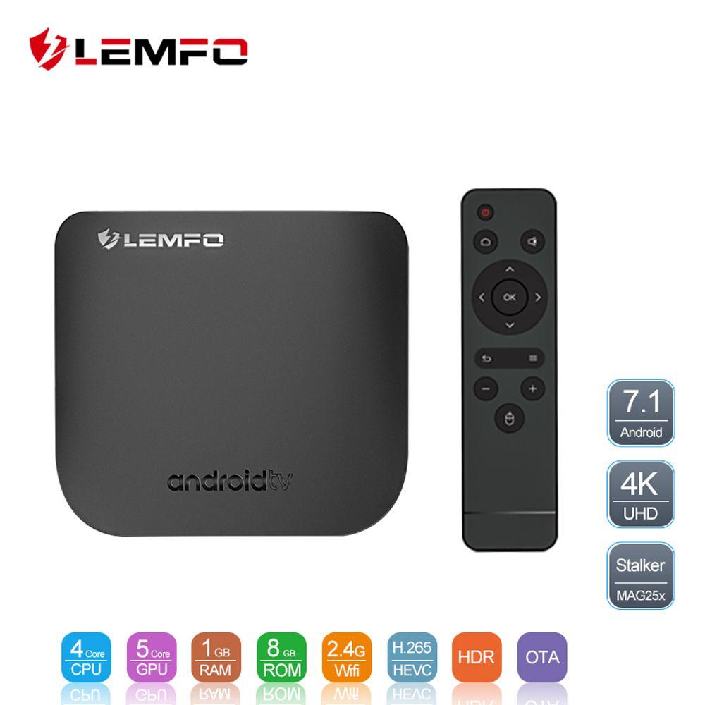 LEMFO Mini Ultra-thin Smart Android TV Box Android 7.1 Full HD 4K 2.4G Wifi Bluetooth 2GB + 16GB Support OTA Update Set Top Box