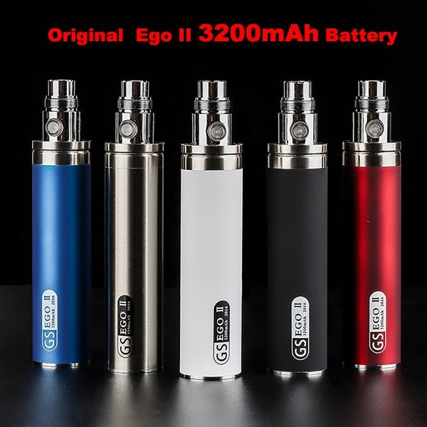 Newest e cigarette Original GS 3200mah EGO 2 Battery For ego II ego-II electronic cigarette 510 Thread Battery Multi Colors
