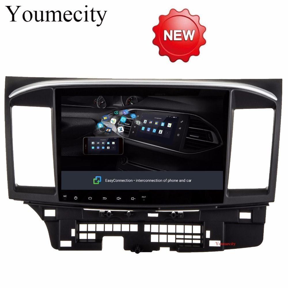 Youmecity 2G RAM Android 8.1 2 DIN Car DVD GPS for MITSUBISHI LANCER 2008-2016 headunit video player wifi Radio video Stereo