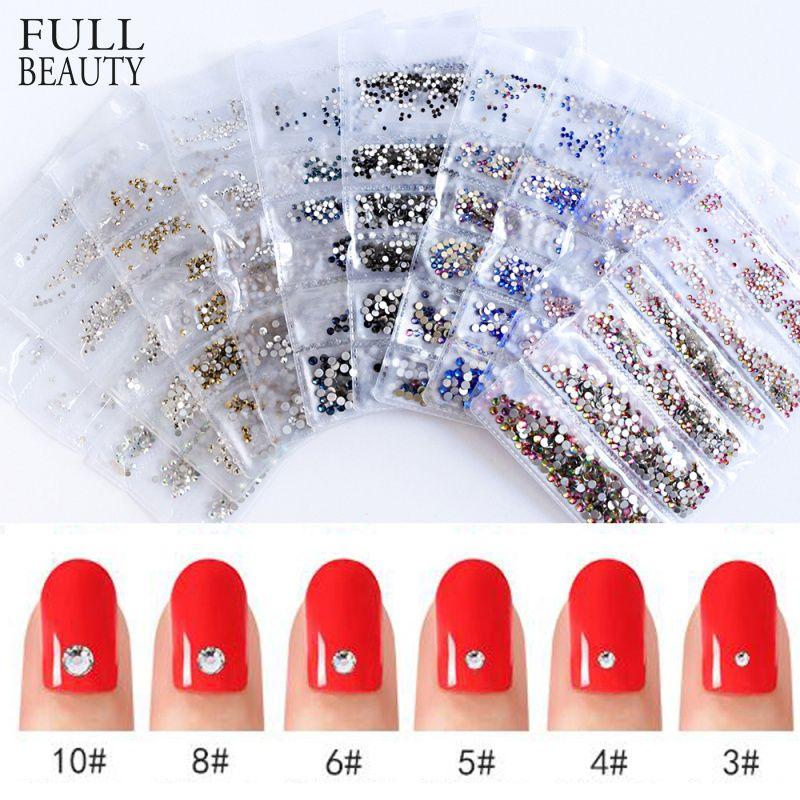 Volle Schönheit 10 Farbe Micro Größe 1440 stücke Kristall Strass für Nagel Kunst Steine Mixed DIY Edelsteine Nail art Teile zubehör CH025