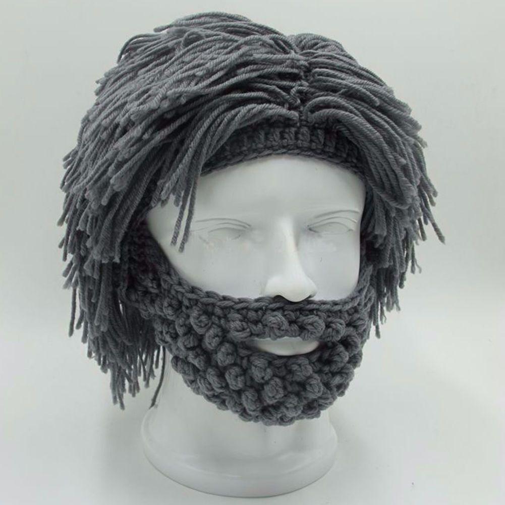 NaroFace Main Tricoté Hommes D'hiver Crochet Moustache Chapeau Barbe Bonnets Visage Gland Vélo Masque de Ski Chapeau Chaud Drôle Chapeau Cadeau nouveau