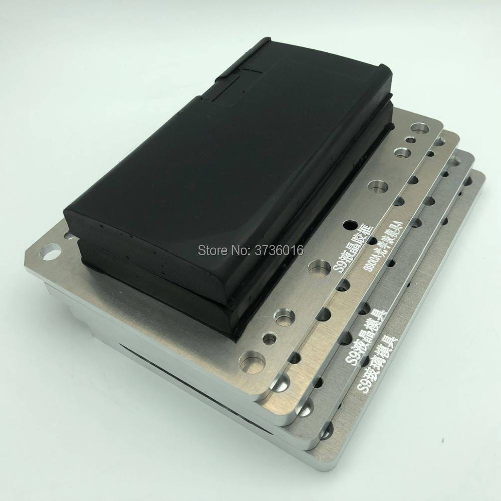 YMJ unbent flex laminating mold for samsung S9 oca glass edge lcd Unbent flex vacuum laminating for mobile phone repair