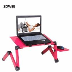 Adjustable Portable Laptop Table Stand Lap Sofa Bed Tray Computer Notebook Desk bed table