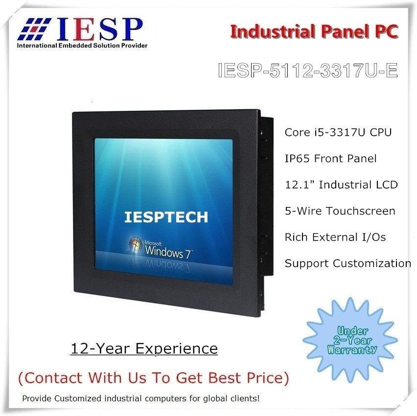 12 zoll Industrie touch panel PC, Core i5 CPU, 4 GB DDR3, 500 GB HDD, industrie HMI, bieten custom design dienstleistungen