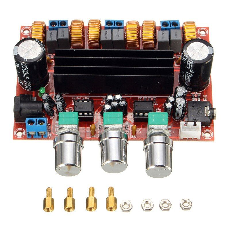 New Arrival TPA3116D2 50Wx2+100W 2.1 Channel Digital Subwoofer Amplifier Board 12V-24V Power