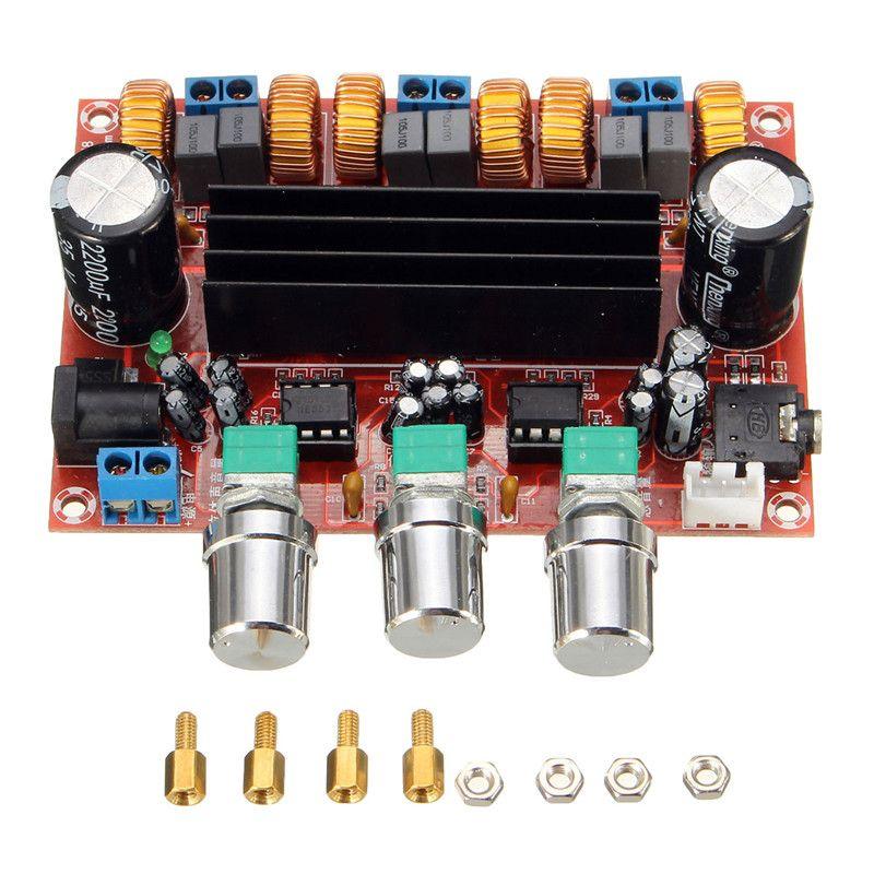 Nouveauté TPA3116D2 50Wx2 + 100 W 2.1 canaux carte amplificateur de Subwoofer numérique 12 V-24 V puissance
