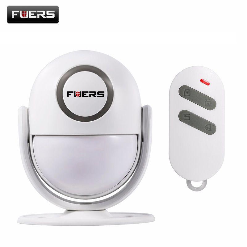 Fuers P6 Welcome Chime Wireless Infrared IR Motion Sensor Door bell Alarm Doorbell+remote controller