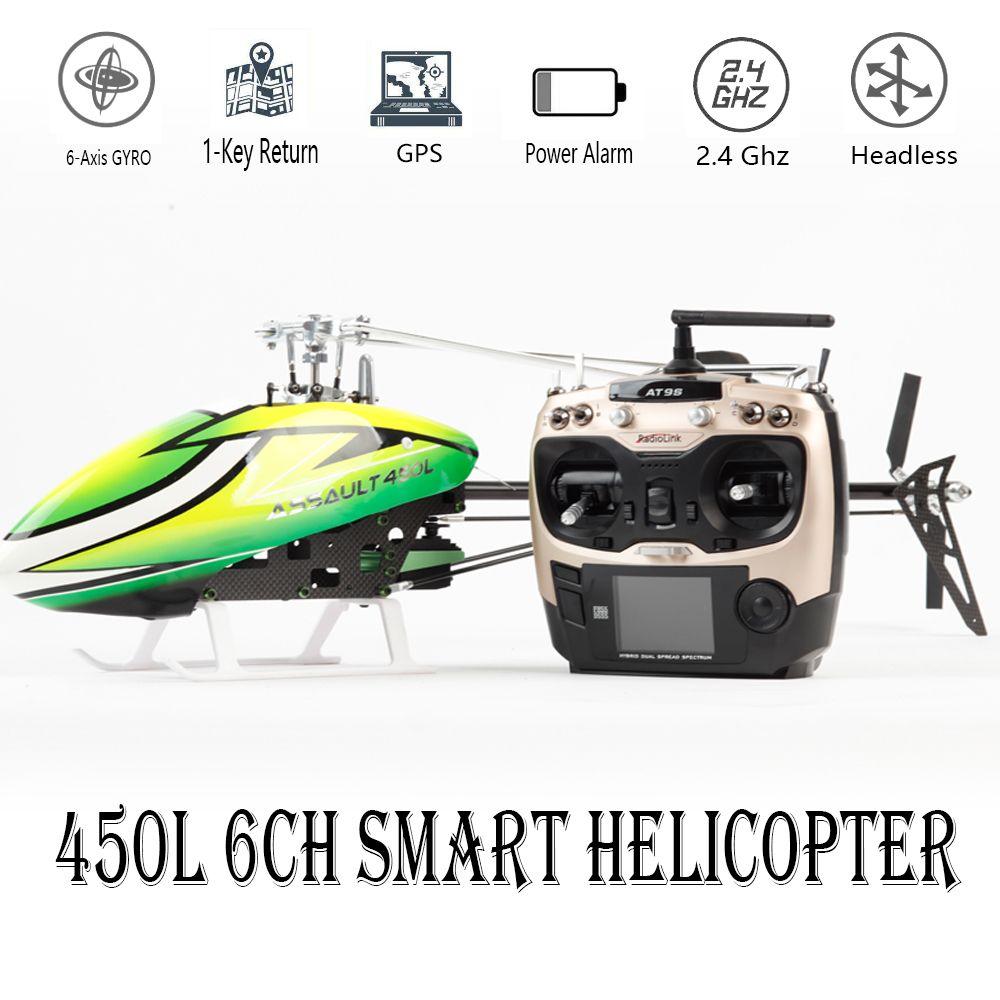 Smart Drone 450L 6CH RC Hubschrauber 450L 6CH 3D 6-achsen-Gyro Flybarless GPS RC Hubschrauber RTF 2,4 GHZ RC Spielzeug