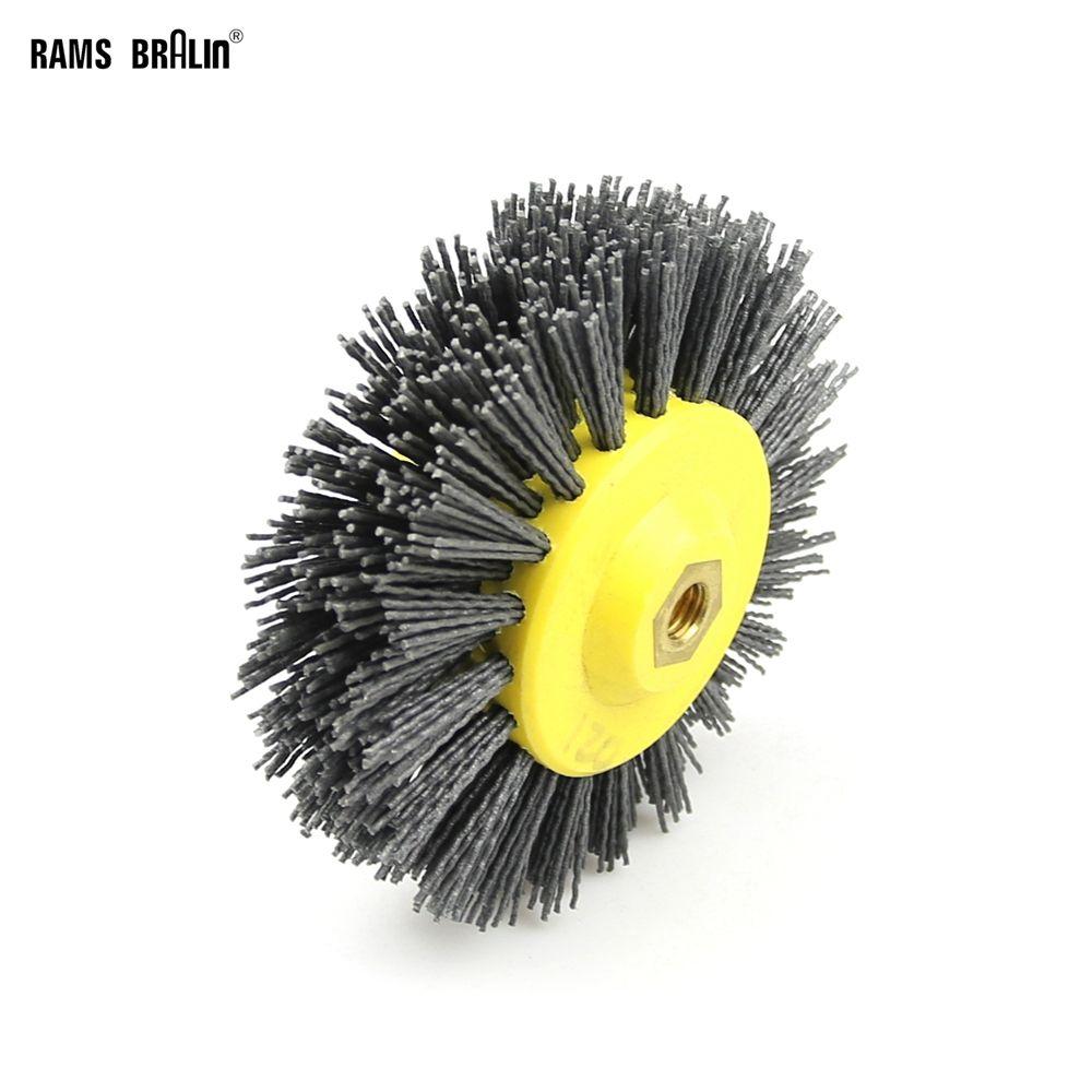 1 piece 150*40mm * M14 Abrasive Wire Antiquing Polishing Brush Wheel for Wood Furniture Stone Grinding