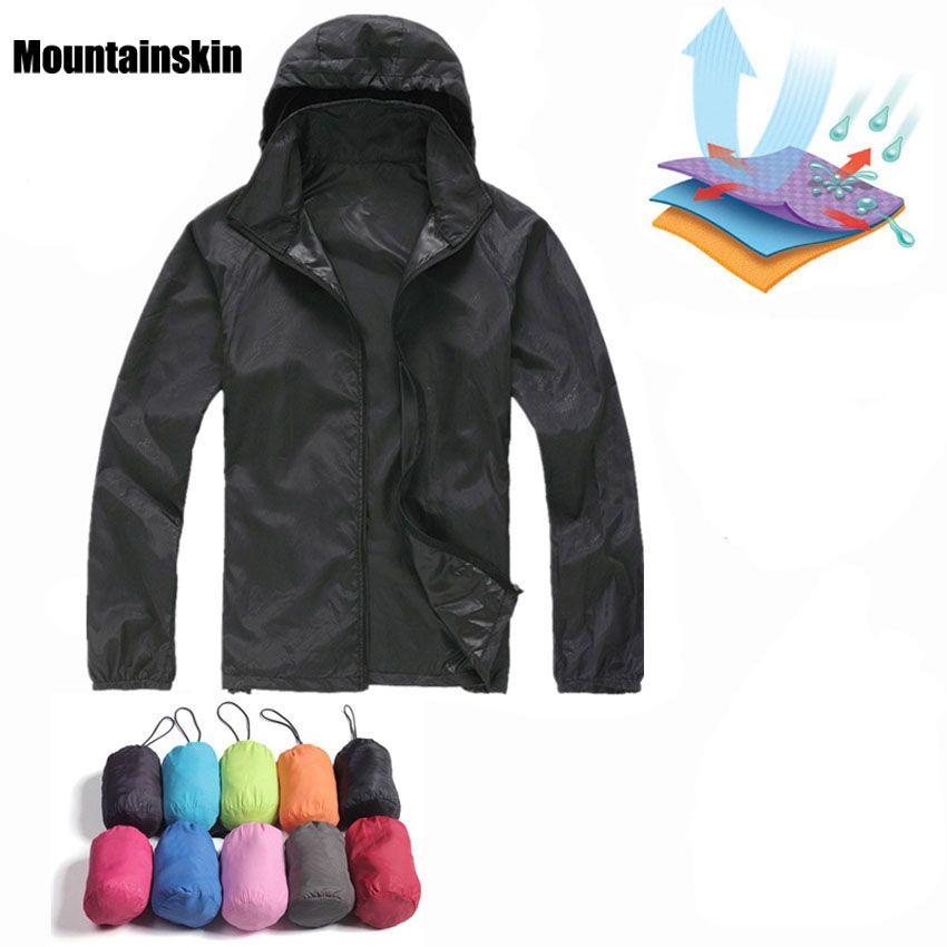Men Women Quick Dry Hiking Jackets 2018 New Waterproof Sun-Protective Outdoor Sports Coats Skin Male Female Windbreaker RW188