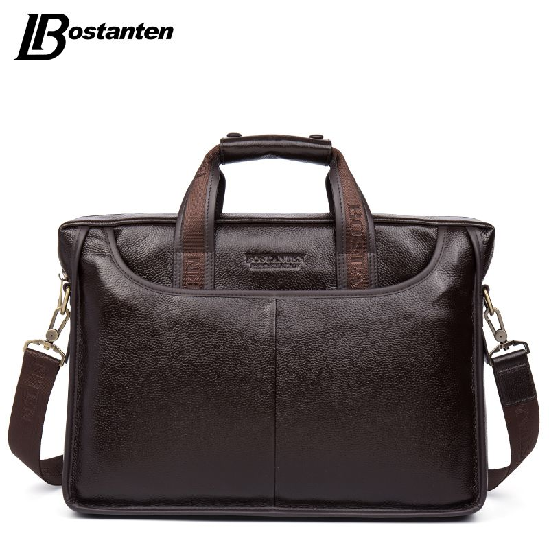 Bostanten 2017 New Fashion Genuine Leather Men Bag Famous Brand Shoulder Bag Messenger Bags Causal Handbag <font><b>Laptop</b></font> Briefcase Male