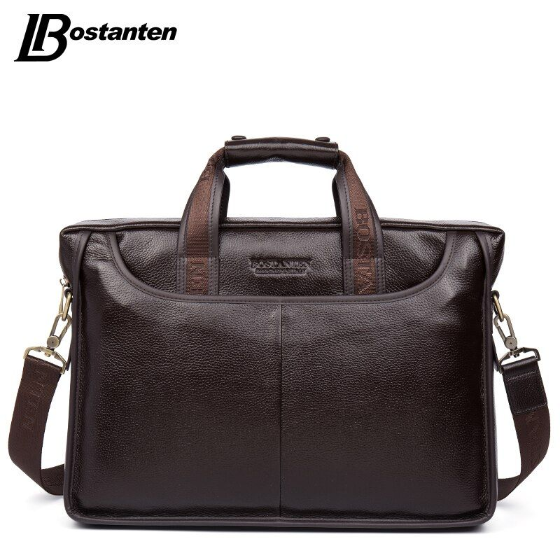 Bostanten 2017 New Fashion Genuine Leather Men Bag Famous Brand Shoulder Bag Messenger Bags Causal Handbag Laptop Briefcase Male