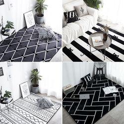 Fashion Modern Super Lembut Tebal Beludru Karpet Samping Tempat Tidur Selimut Keset Outdoor Doa Ruang Tamu Rumah Lantai MAT Anti-Slip karpet