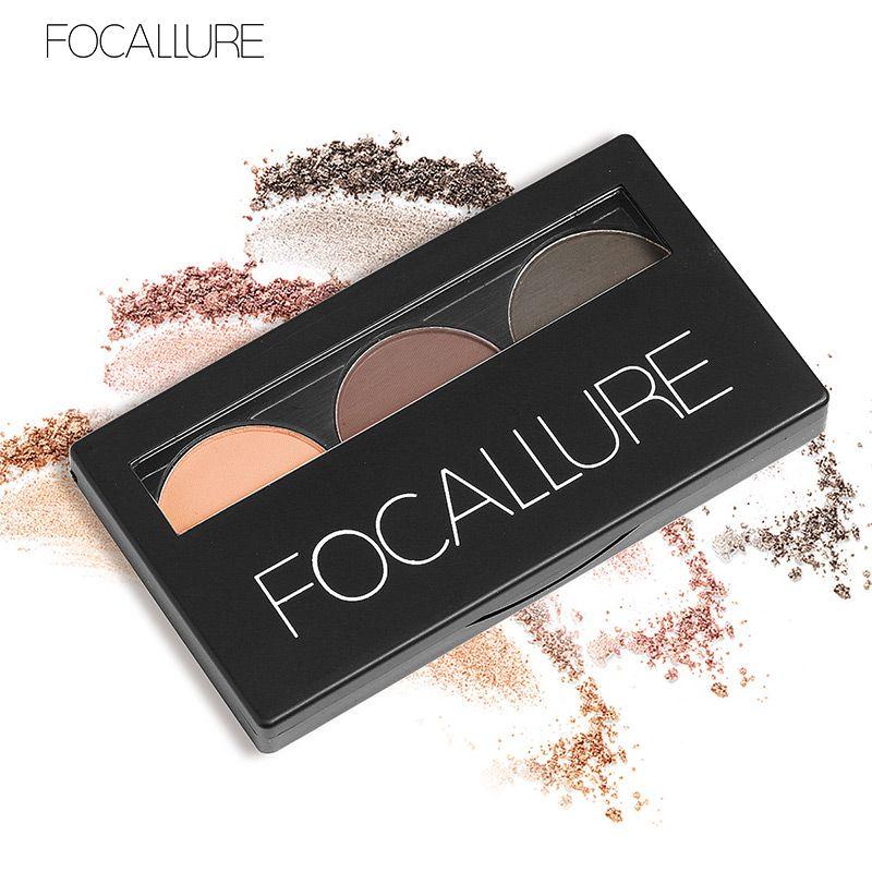 3 farbe Wasserdicht Lidschatten Augenbraue Pulver Machen Up Palette Frauen Schönheit Kosmetische Augenbraue Make-Up Kit Set durch Focallure