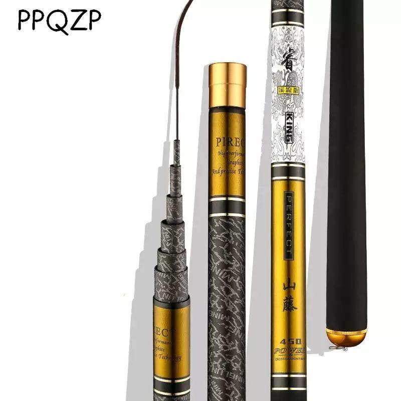 Canne à pêche télescopique Be tige de coulée en Fiber de carbone 3.6 m-10 m mangeoire d'eau douce pêche pôle dur Ultra léger pour carpe PPQZP