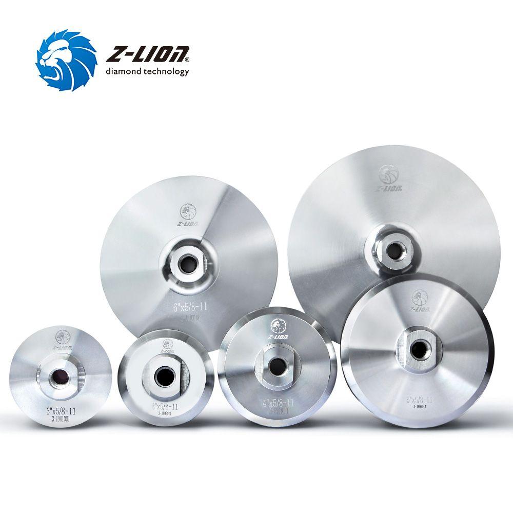 Tampon d'appui en aluminium Z-LION pour tampon de polissage diamant 3/4 /5/6 /7 support de support à base d'aluminium M14 5/8-11 meuleuse d'angle de filetage