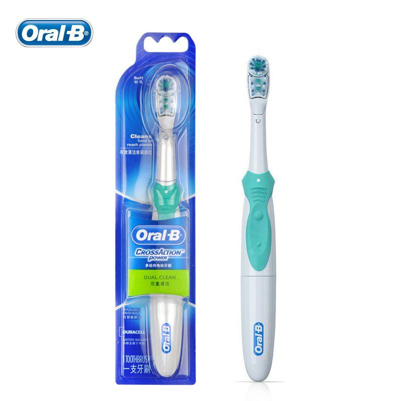 Oral-B Cross Action Электрические зубные щётки двойной чистке Отбеливание зубов-Перезаряжаемые зубы Кисточки 4 цвета