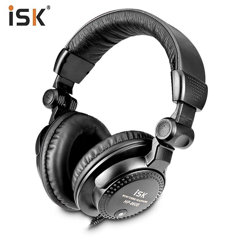 Brand new original ISK HP-960B Over ear Professional Headphone 3.5mm Studio Monitor Dynamic Stereo DJ HD Headsets music Earphone