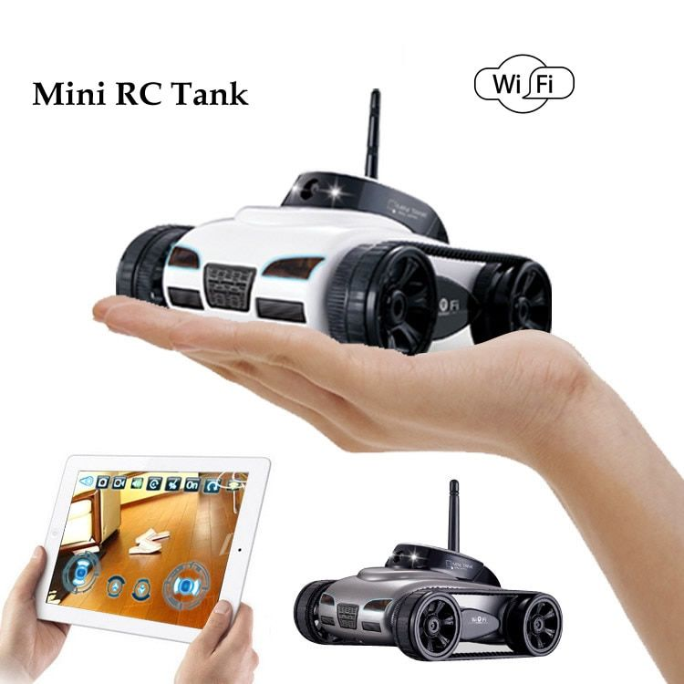 Impulls New 2017 Mini RC Wifi Tank Robot 777-270 With 0.3MP Camera Remote Control By Iphone Android Phone RC tank kids toy