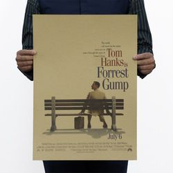Forrest Gump Vintage Kraft Paper Movie Poster Home School Office Wall Decoration  Art Magazines  Retro Posters and Prints