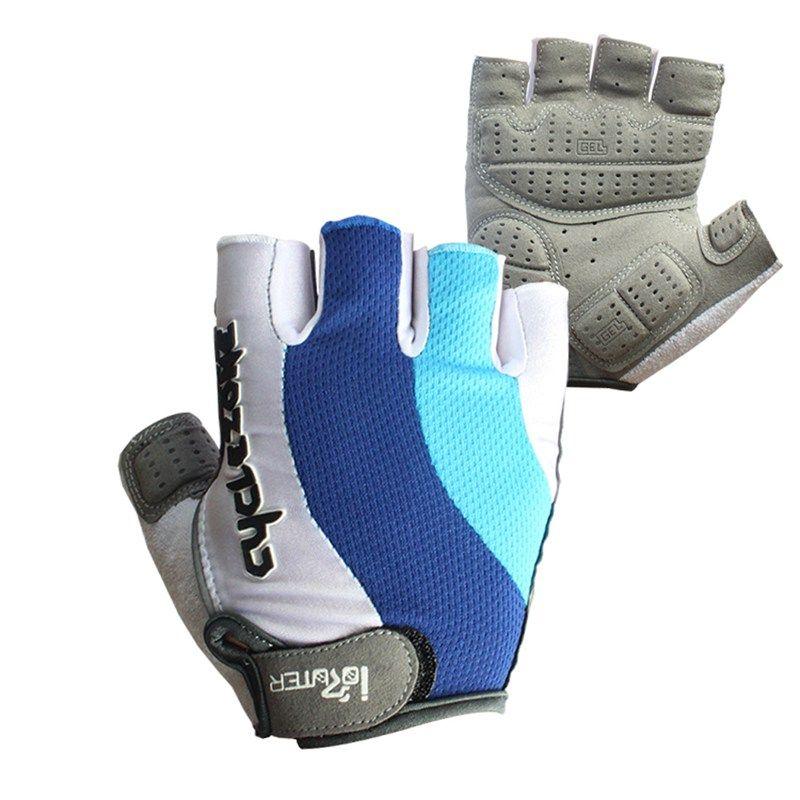 Gel Handschuhe Half Finger Reiten Fahrrad Handschuhe Männer Racing Handschuhe Silikon Gel Motorrad Radfahren Handschuhe guantes ciclismo M-XXL